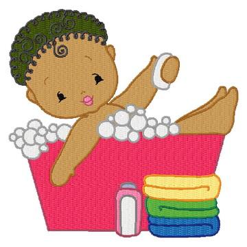 Matriz Bordado Banho de Bebê Agulha Feliz Matrizes