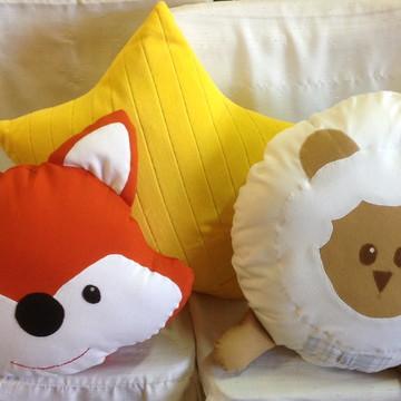 Almofadas decoração quarto do bebê