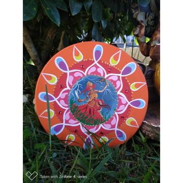 mandala pintada a mão em MDF 20x20 cm