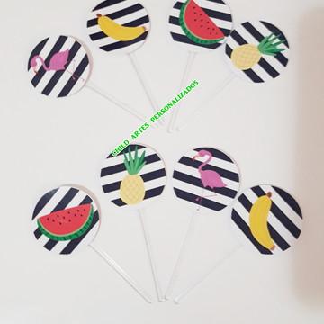kit 40 topper de docinhos flamingo 2