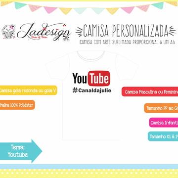 Camisa Personalizada - Youtube