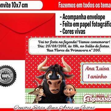 Convite O Touro Ferdinando