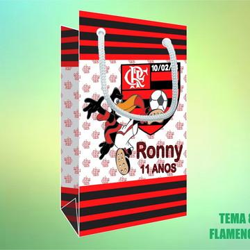 Sacola Personalizada em Papel Foto - Flamengo
