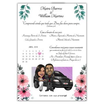 Convite de Casamento com Caricatura