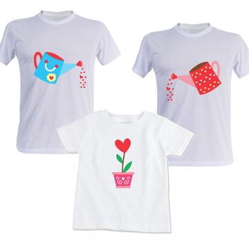 Kit Família Regador 3 Camisas Aniversario, Festas