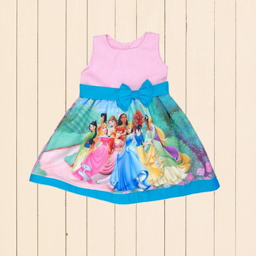 Vestido Princesas da Disney Temático Roupa Infantil