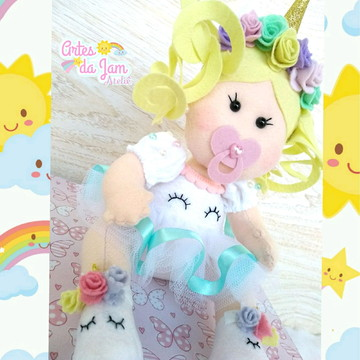 Boneca bebê unicórnio
