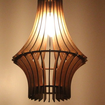 luminária em mdf