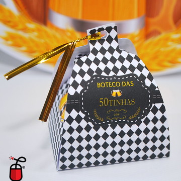 Caixinha porta bombons - Boteco Amarelo e Preto 1