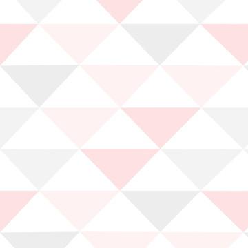 Papel de Parede Quarto Infantil Menina Rosa Geométrico