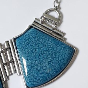 Maxi Colar - Trio de Pedras Azuis