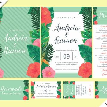 Tropical Luxo - Identidade Visual de Casamento