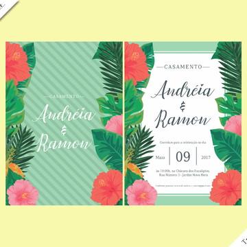 Tropical Standard - Identidade Visual de Casamento