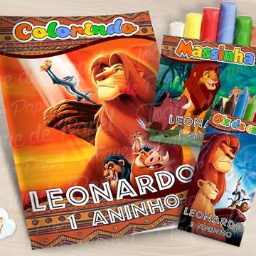 Kit colorir giz massinha O Rei Leão