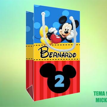 Sacola Personalizada em Papel Foto - Mickey