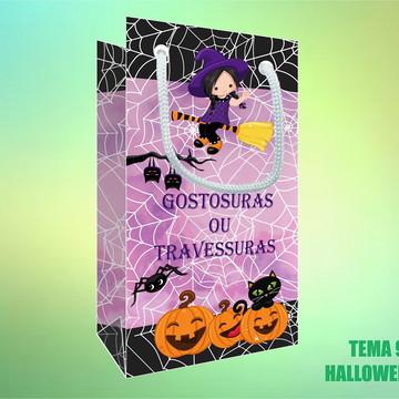 Sacola Personalizada em Papel Foto - Halloween