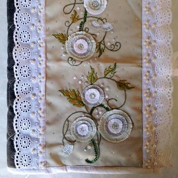 Capa de caderno em tecido decoração