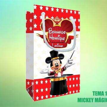 Sacola Personalizada em Papel Foto - Mickey Mágico - Circo