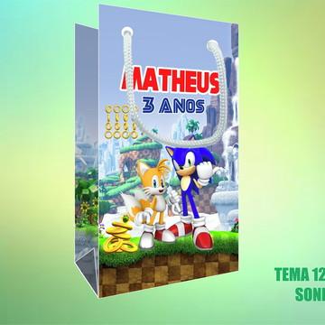 Sacola Personalizada em Papel Foto - Sonic