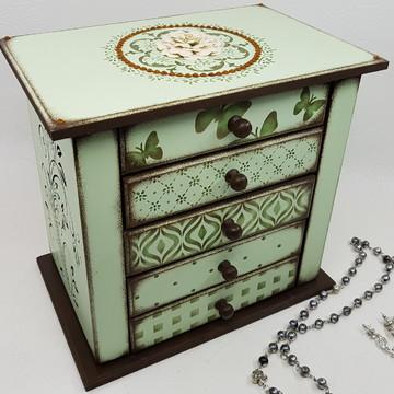 Gaveteiro porta joias e colares Mandala