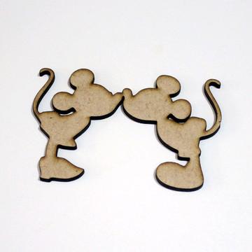 Aplique/Recorte/Pingente - laser - Minnie e Mickey