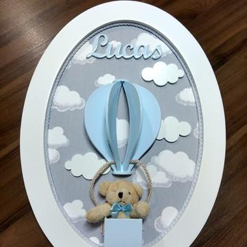 Quadro Porta Maternidade Ursinho no Balão