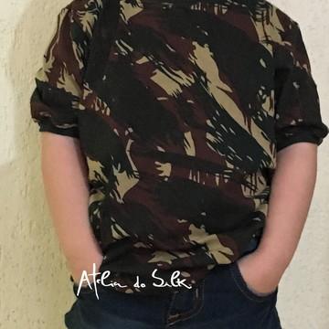 Camiseta Camuflada Malha Algodão