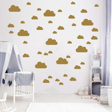 Adesivo nuvens douradas