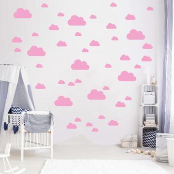 Adesivo nuvens rosas