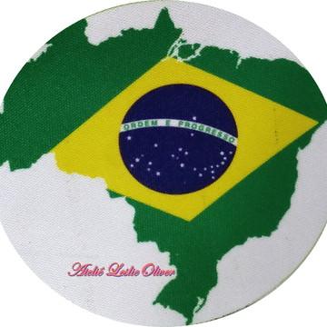 Kit com 6 Porta copos (bolacha) - Apoio de copos Brasil