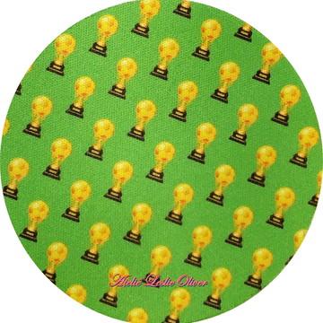 Kit com 6 Porta copos (bolacha) - Apoio de copos Brasil copa