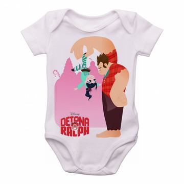 Bodie body Criança Infantil Roupa Bebê Detona Ralph disney