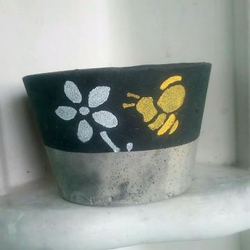 Vasinho decorativo de cimento