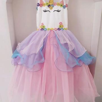 Fantasia vestido Unicórnio Tule