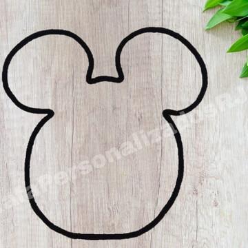 Desenho Mickey e Minnie em Tricotin