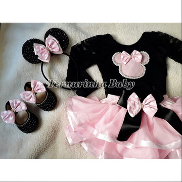 Fantasia Minnie Rosa Luxo