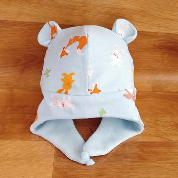 Gorro para bebê com orelhinhas (também no tam. adulto)