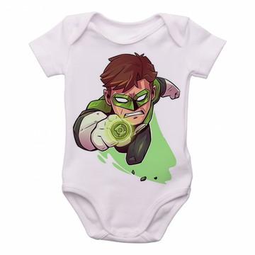 Body Bebê Roupa Infantil Criança mini lanterna verde green