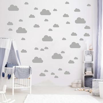 Adesivo nuvens cinza