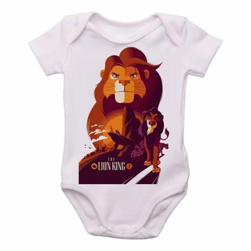 Body Criança Infantil Roupa Bebê o rei leão e scar disney