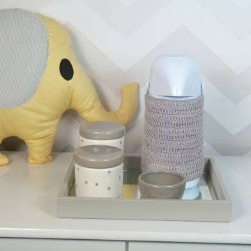 Kit Higiene Porcelana Poa Cinza