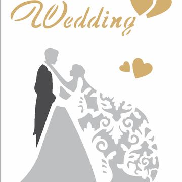 Estencio Pintura Simples 15x20 Casamento Wedding Opa 2344