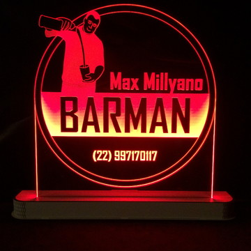 Luminária Mesa Barman com Led