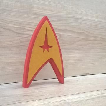 Startrek Frota Estelar - Simbolo de mesa em MDF