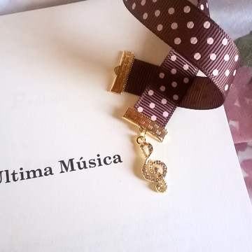 Marcador de Livro Personalizado Nota Musical