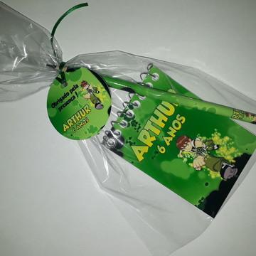 Kit Bloquinho e Lápis + Embalagem + Tag - Ben 10