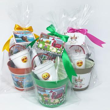 Lembrança Kit Plantio Ecológico Mini com baldinho