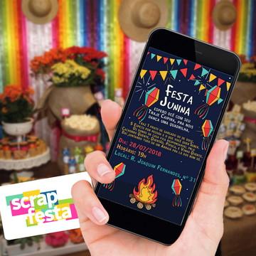Convite Arte Digital Festa Junina