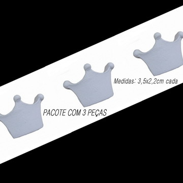 Mini Coroa 3 pontas em resina.