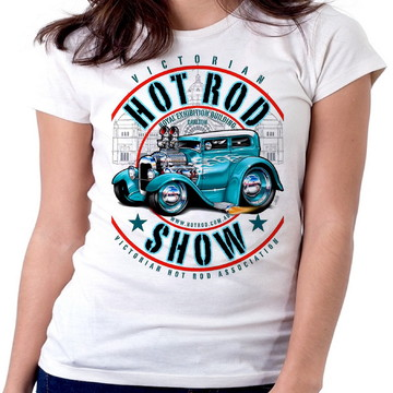 Blusa feminina baby look camiseta hot road carro corrida ant